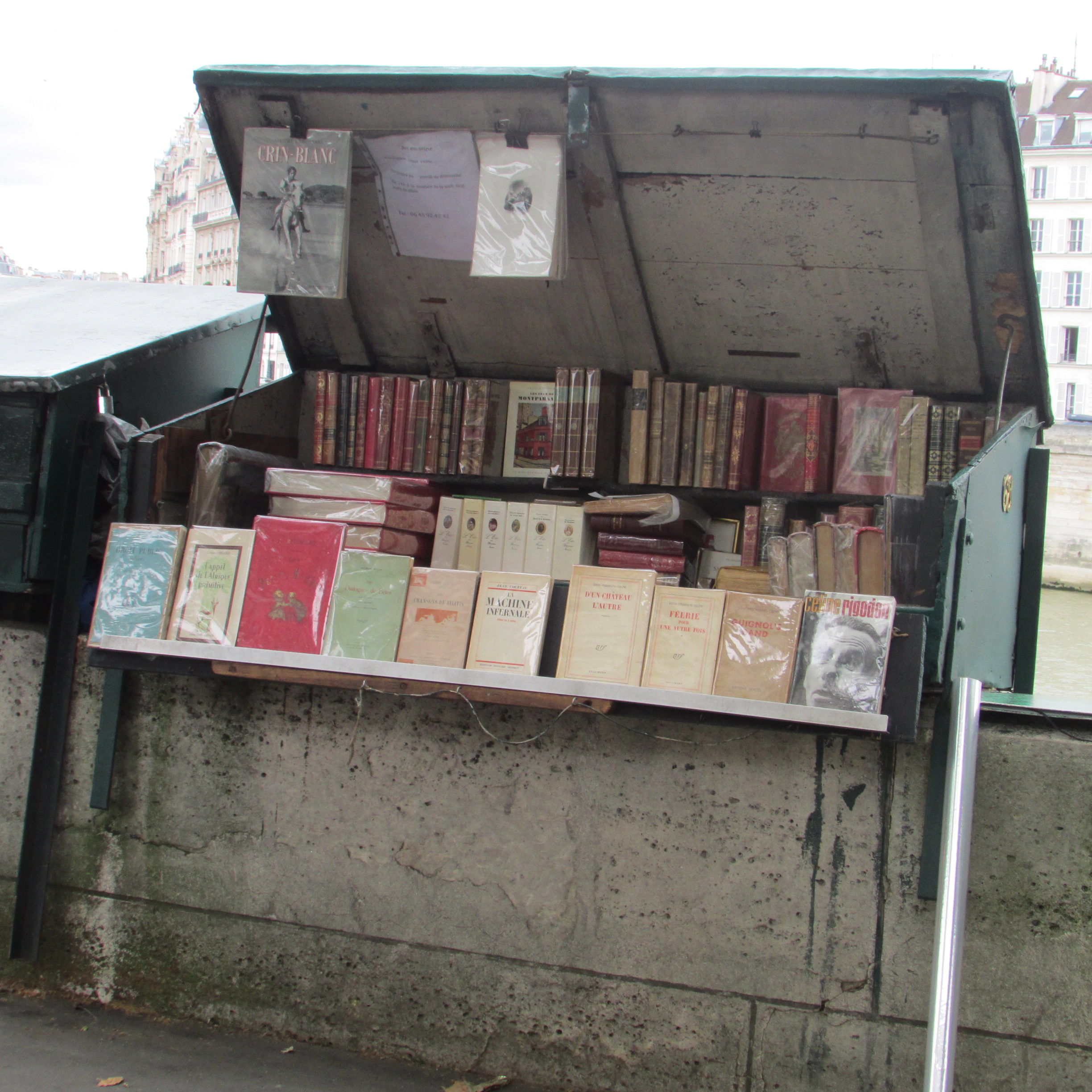 Bouquinistes along the Seine. Paris, France. Where it all began. This is where so many years ago I developed my love for being a bookseller. My dream would be to have one of these little green bookstands someday. But my French would need to improve. Vivre le libre!
